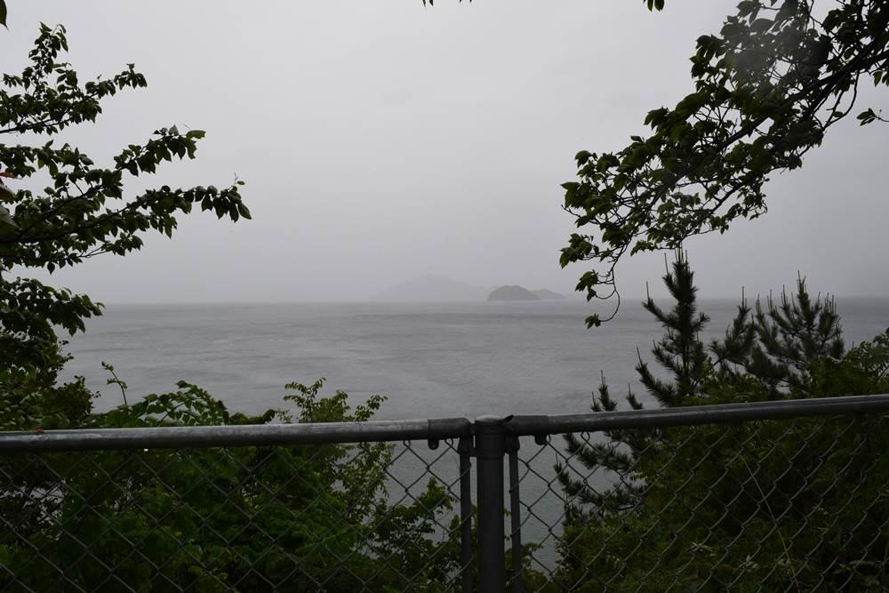 陸奥記念から見える柱島