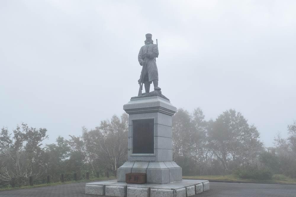 後藤房之介伍長の銅像