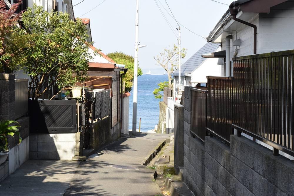 観音崎の住宅地