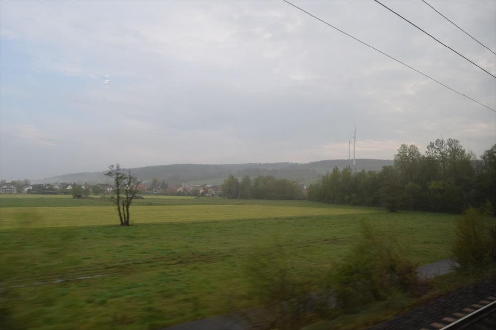 ドイツの車窓からの風景