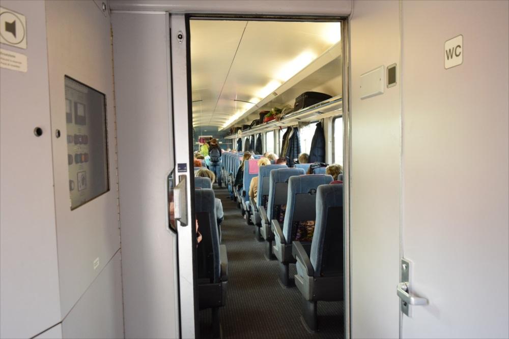 ドイツの列車の内部