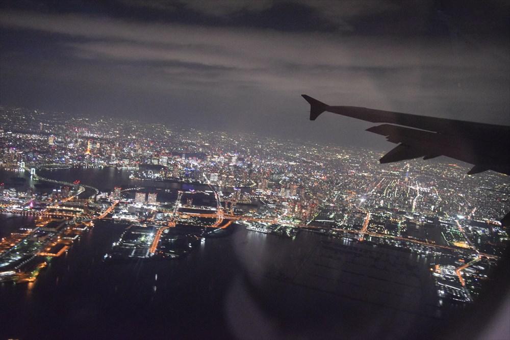機内からの東京夜景
